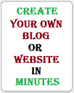 Create your own Blog or Website in Minutes