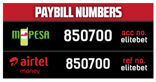 Elitebet kenya Deposit & Withdrawal Methods