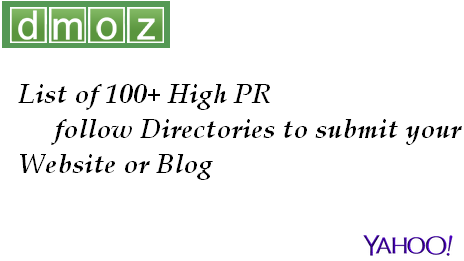 Top 100 High PR Dofollow Directories Submission List