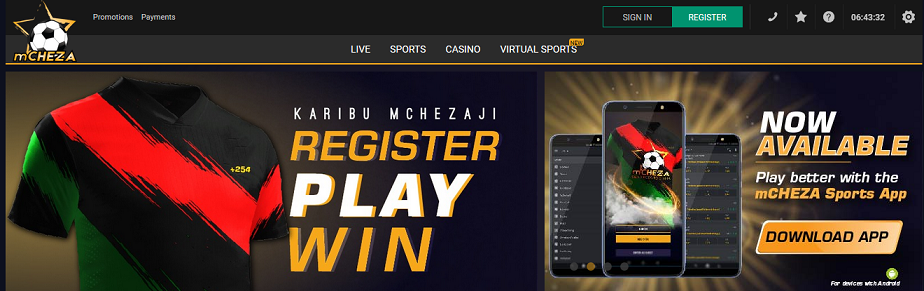 mCHEZA website