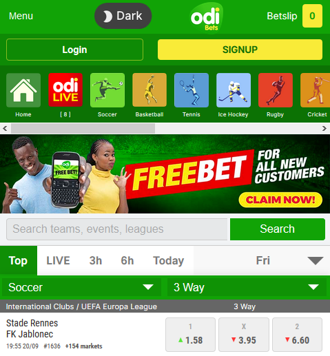 Free Sports Betting sites in Kenya with Sign up Bonus