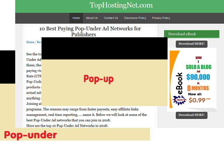 Pop-up ads: the good, the bad & the ugly.