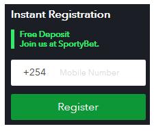 SportyBet Instant Registration