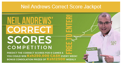 Eazibet Neil Andrews' correct score competition bonus