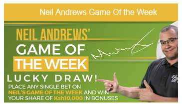 Eazibet Neil Andrews' Game of the Week bonus