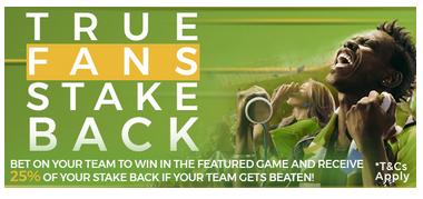 Eazibet True fans stake back bonus