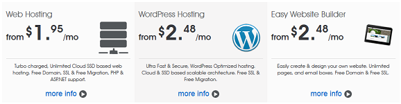 MochaHost WordPress Hosting plans