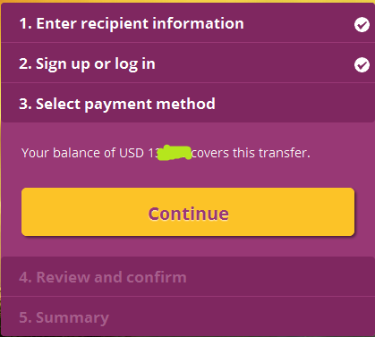 Login and confirm your skrill balance to withdraw to M-pesa