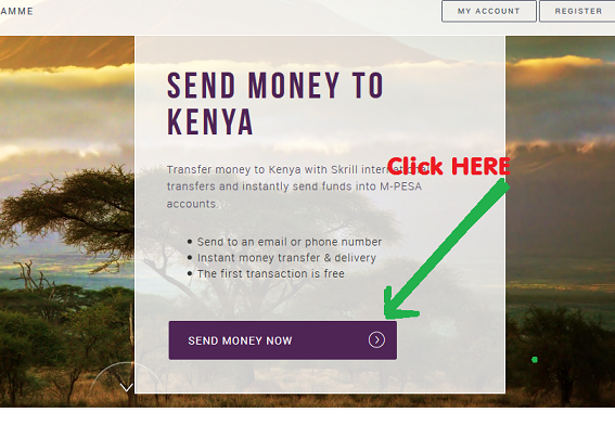 transfer money to Kenya